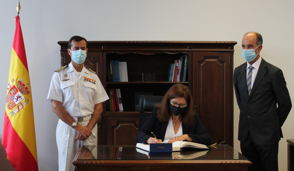 Visita al CUD-ENM del Subdirector General de Enseñanza Militar y de la Directora de ANECA